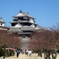 Matsuyama's hilltop castle is one of few extant castles in Japan and a prime cherry-blossom viewing spot of Ehime. | MANDY BARTOK