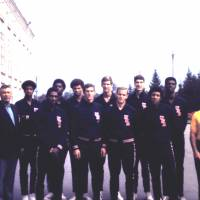 A chance to grow: Future NBA players Julius Erving, Bob Nash, Paul Westphal, Tom McMillen and Ricky Sobers were among those who made the U.S. Olympic development team in 1970 after tryouts in Colorado Springs, Colorado.   HERB MOLS