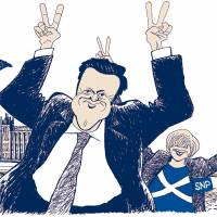 What propelled Cameron to victory?