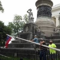 Confederate flags removed from Alabama capitol on governor's orders
