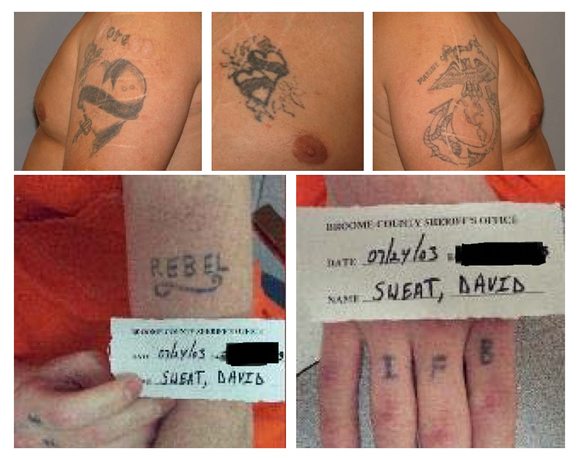 The tattoos of escaped prisoners Richard Matt (top) and David Sweat are seen in a combination of undated photos released by the New York State Police in Ray Brook, New York. A female prison worker being questioned by police, who are hunting two escapees from an upstate New York prison, thought she had a romantic relationship with one of them and had planned to drive the getaway car, NBC News reported on Thursday. In the end, Joyce Mitchell, an industrial training supervisor in the tailor shop of Clinton Correctional Facility in the town of Dannemora, got cold feet and checked herself into a hospital for nerves on Saturday, the day the inmates were discovered missing, NBC reported, citing unnamed senior government officials.   REUTERS / NEW YORK STATE POLICE / HANDOUT VIA REUTERS