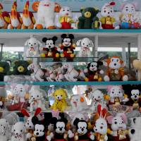Stuffed toys are displayed at a store in central Pyongyang inSeptember 2013, a sign that there is a growing consumer class in the socialist bastion.   REUTERS / HANDOUT VIA REUTERS
