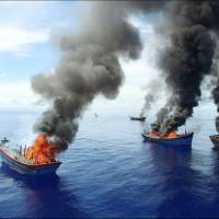 Palau burns Vietnamese boats caught fishing illegally