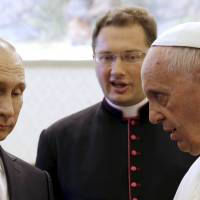 Ukraine requires 'sincere' peace efforts, pope tells Putin