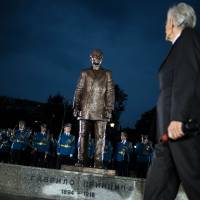 Serbia unveils monument to WWI-triggering assassin Gavrilo Princip