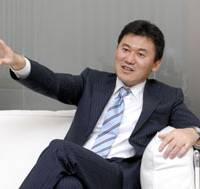 Upbeat: 'We've been able to achieve a win-win-win situation for Rakuten as well as for the retailers and consumers,' says Mikitani during his interview with the Japan Times.  | YOSHIAKI MIURA
