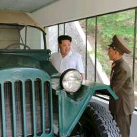 North Korean leader Kim Jong Un gives field guidance at a historic site associated with the Korean War in this undated photo released by North Korea's Korean Central News Agency (KCNA) in Pyongyang June 9. Information about the fate of Japanese abducted by the North was not provided in a recent report Pyongyang promised to provide to Tokyo. | KCNA / REUTERS