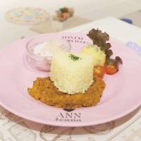 Parents panacea: Curry Kid's Plate (¥850) at Cafe Annteana is served in a setting filled with play equipment, toys and chalkboards. | ANNA-MARIE FARRIER