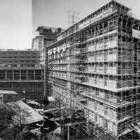 A photo of Hotel Okura Tokyo taken on Jan. 12, 1961, shows developments one year and four months before the official opening. | COURTESY OF HOTEL OKURA TOKYO