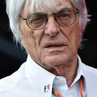 Formula One boss Bernie Ecclestone looks on at the paddock after qualifying for the Austrian GP on Saturday. | AFP-JIJI