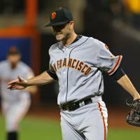 Rookie Heston pitches no-hitter for Giants