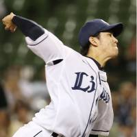 Lions' Kishi collects first victory of season