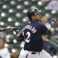 Maldonado ends marathon game with homer in 17th