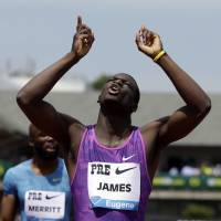 Kirani James wins 400 meters at Prefontaine Classic