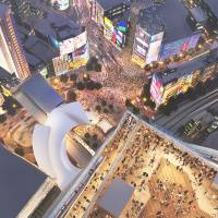The new observatory faclity planned to be built on a 230-meter building close to Shibuya station can view Shibuya's famous busy crossing.