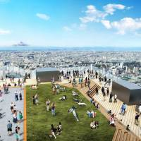 Tokyu Corp. and other railways is expected to finish work on a 230-meter building by Shibuya Station in 2019 that will have a 3,000 sq. meter observation deck where people can get a 360-degree view of Tokyo.