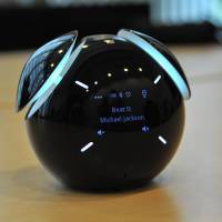 Sony Mobile Communications Inc.'s Smart Bluetooth Speaker can pull data from a smartphone and respond to voice commands. | KAZUAKI NAGATA