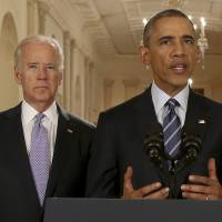 U.S. President Barack Obama delivers remarks at the White House on Tuesday, after a deal was reached with Iran on its nuclear program. After 18 days of intense and often fractious negotiations, diplomats declared that Iran would curb its nuclear work in exchange for billions of dollars in relief from international sanctions. | AP