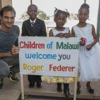 Federer opens Malawi child development center funded by his charity