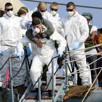 Inflatable sinks off Libya; 40 migrants feared dead
