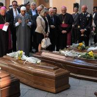 Italy holds funeral service for first migrant victims of deadliest shipwreck in recent history