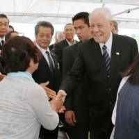 Former Taiwan president visits disaster-hit city in Miyagi