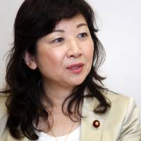 Seiko Noda, a lawmaker from the Liberal Democratic Party, is interviewed in Tokyo on Wednesday. | BLOOMBERG