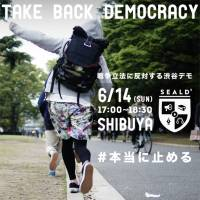 A flier for an anti-security legislation rally prepared by the Students Emergency Action for Liberal Democracy (SEALDs) shows the influence of street culture on the youth political group. | COURTESY OF SEALDS