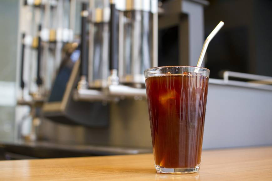 Cold perfection: Iced coffee at Roast Works is made with their new Steampunk coffee machine. | JAMES HADFIELD