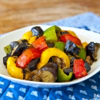 Loved and hated: Adding peppers to an eggplant stir fry is a good way to sneak the vegetable past those who don't like its bitterness | MAKIKO ITOH