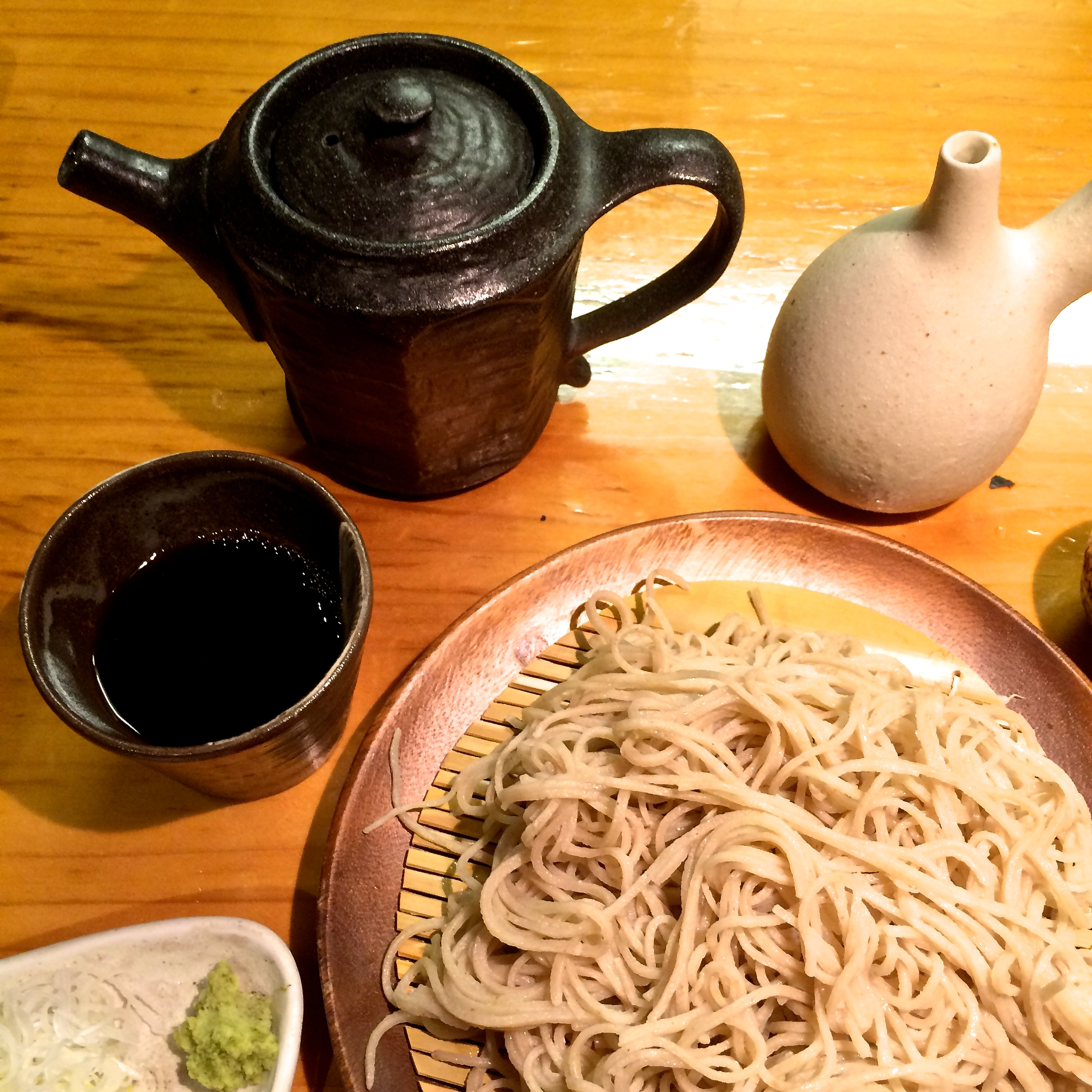 Noodles for connoisseurs: Kyorakutei's hand-made soba has a fragrant, nutty flavor that needs little embellishing. | ROBBIE SWINNERTON