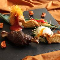 Dining with the dinosaurs; a relaxing evening by the pool; summer breezes, world cuisines