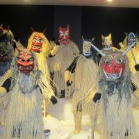 An ogre display showcases a variety of costumes at the Namahage Museum. | LOUISE GEORGE KITTAKA