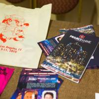 Working together: Leaflets explaining various anime events and collaborations were handed out at the 2015 Project Anime Los Angeles conference, sponsored by the Society for the Promotion of Japanese Animation. | JEREMY RAFANAN, ANIME EXPO