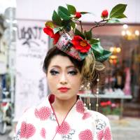 Harajuku youth: Many of Tokyo's current kimono designers became interested in kimono culture while experimenting with the garments on the streets of Tokyo's Harajuku neighborhood during the late 1990s and early 2000s. | TAKA KIRA/PRESTEL PUBLISHING