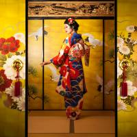 Underneath the 'Orientalist' kimono