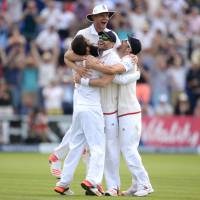 England claims first Ashes test