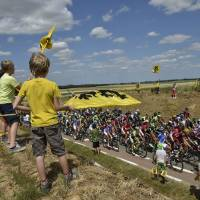 Rodriguez wins crash-marred 3rd stage of Tour de France