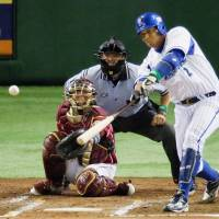The BayStars' Jose Lopez had three hits for the Pacific League in Friday's Game 1 loss. | KYODO