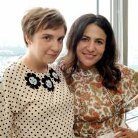 Not so lost: Lena Dunham (left) and Jenni Konner, executive producers for HBO's hit TV show 'Girls,' spoke with The Japan Times at the Park Hyatt Tokyo. The hotel was also the setting for an inspiration of theirs, Sofia Coppola's 2003 film 'Lost in Translation.' | YOSHIAKI MIURA
