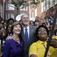 A decade after Katrina, George W. Bush visits New Orleans, Mississippi — but skips hardest-hit areas