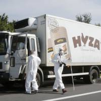 Some 50 migrant corpses found in Hungary-licensed refrigerator truck abandoned in Austria