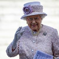 Queen Elizabeth II, royals attend special Victory over Japan service in London