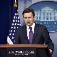 White House Press Secretary Josh Earnest speaks during the daily briefing at the White House in Washington, Thursday, Aug. 6, 2015.  | AP