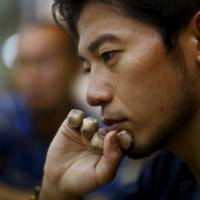 Japanese climber Kuriki Nobukazu speaks during an interview in Kathmandu on Saturday. | REUTERS