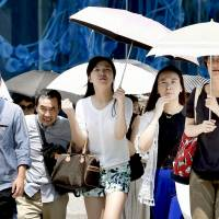 Record heatstroke victims taken to hospitals last week