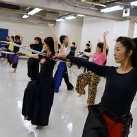 Katana swordplay exercise is a hit with Tokyo women