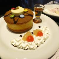 The Crystal Star Pancake is one of the special menu items at the Sailor Moon cafe. | KAZUAKI NAGATA