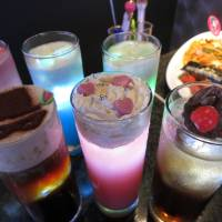 The Sailor Moon Cafe is offering a variety of drinks representing characters from the anime. | KAZUAKI NAGATA