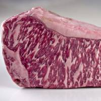 Richly textured: A slab of wagyu should be densely marbled with fat. Much of Tokyo's luxury beef is processed by hand with high-grade blades.   FLICKR / CC BY 2.0